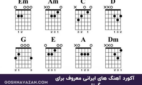 آکورد ساده گیتار